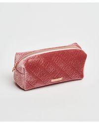 Hunkemöller Velours Make-up Tasje - Roze