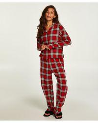 Hunkemöller Pyjama Set Check Twill - Rood