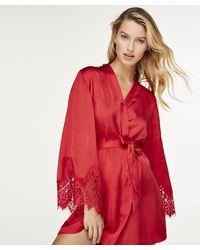 Hunkemöller - Kimono Satin Lace - Lyst