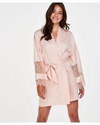 Hunkemöller Kimono Satijn Bridal - Roze