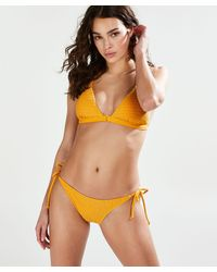 Hunkemöller Tanga Bikinibroekje Goldenrod - Geel