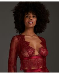Hunkemöller Top Allover Lace - Rood