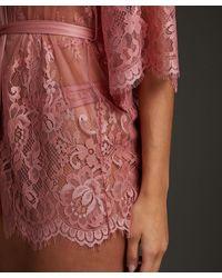 Hunkemöller Kimono de encaje Isabelle - Rosa