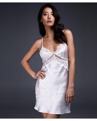 Hunkemöller Vestido combinación Satin Honey - Blanco