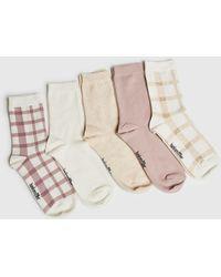 Hunkemöller 5 paires de chaussettes en coton - Noir