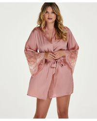 Hunkemöller Kimono Satin - Roze