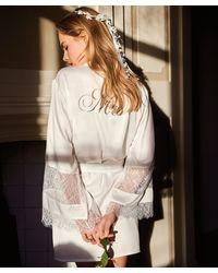 Hunkemöller Kimono Satijn Bridal - Wit