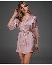 Hunkemöller Kimono Satijn Lily - Roze