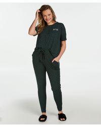 Hunkemöller Pyjamabroek Jersey Loose Fit - Groen
