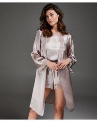 Hunkemöller Kimono Zijde Lace Trim - Roze