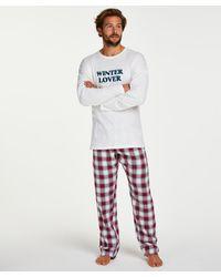Hunkemöller Pyjamaset Heren - Rood