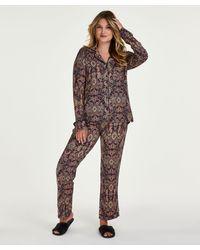 Hunkemöller Paisley Pyjama Set - Blue