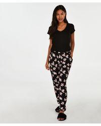 Hunkemöller Pyjamabroek Jersey - Zwart