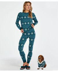 Hunkemöller Pyjamaset Fleece - Blau