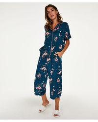 Hunkemöller Pyjama Capri Woven - Blauw