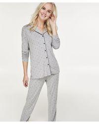 Hunkemöller Lange Pyjama Set - Grijs