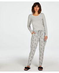 Hunkemöller Pantalon de pyjama Jersey - Gris