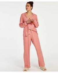 Hunkemöller Woven Pyjama Bottoms - Pink