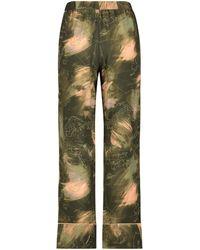 Hunkemöller Tall Pyjamabroek Woven - Groen