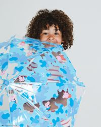 HUNTER Original Kids Peppa Pig Moustache Bubble Umbrella - Blue