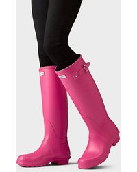 HUNTER Women's Original Tall Wellington Boots - Pink