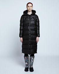 HUNTER Women's Original Long Puffer Coat - Black