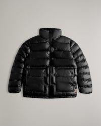 HUNTER Insulated Rubberised Puffer Jacket - Black