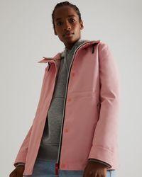 HUNTER Leichte, Wasserdichte Jacke - Pink