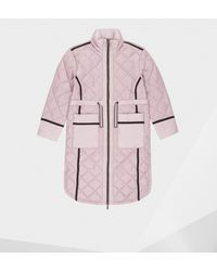 HUNTER Refined Insulated Quilted Long Coat - Multicolour