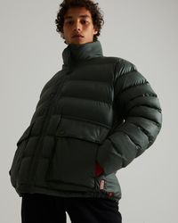 HUNTER Insulated Rubberised Puffer Jacket - Green