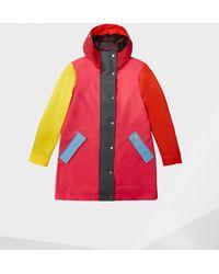 HUNTER Original Colour Blocked Rubberized Hunting Coat - Red