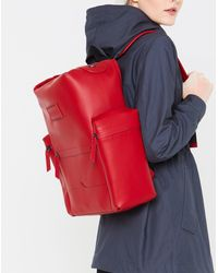 HUNTER Original Top Clip Backpack - Rubberized Leather - Red