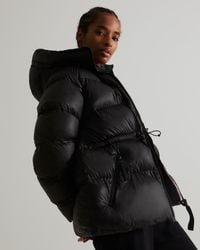 HUNTER Insulated Rubberized A-line Puffer Jacket - Black