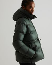 HUNTER Insulated Rubberised A-line Puffer Jacket - Green