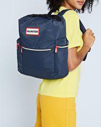 HUNTER Original Top Clip Backpack - Nylon - Blue