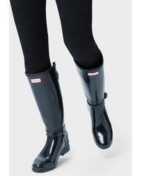 HUNTER - Women's Original Refined Adjustable Tall Gloss Wellington Boots - Lyst