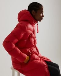 HUNTER Insulated Rubberised Puffer Jacket - Red