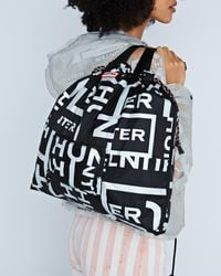 HUNTER Original Reflective Logo Packable Tote - Black