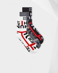 HUNTER Original Exploded Logo Knitted Chelsea Boot Sock 3 Pack - Multicolour