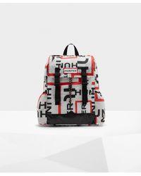 HUNTER Original Exploded Logo Ripstop Packable Backpack - Multicolour