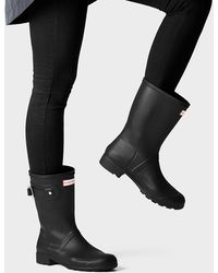 HUNTER Original Tour Foldable Short Wellington Boots - Black