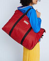 HUNTER Original Nylon Weekend Bag - Red