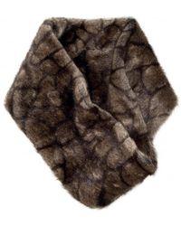 Dubarry Elk Greystones Faux Fur Snood - Brown
