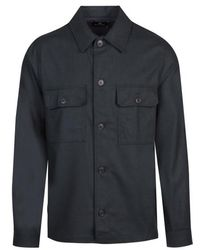 PS by Paul Smith Wool Pocket Overshirt - Blue
