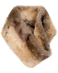 Dubarry Chinchilla Greystones Faux Fur Snood - Natural