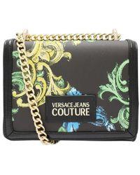 Versace Jeans Baroque Mix Print Crossbody Bag Siz - Black