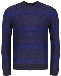 PS by Paul Smith Alpaca Wool Mix Knitted Jumper - Blue