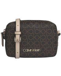 Calvin Klein Brown Mono Camera Bag