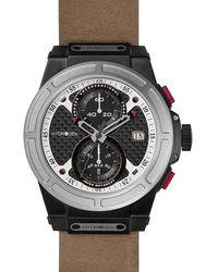 Hydrogen Watch Otto Chrono Silver Black-nato