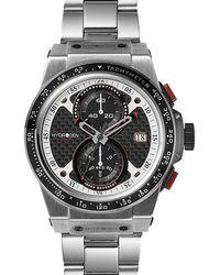 Hydrogen Watch Otto Chrono Silver Link - Metallic